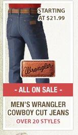 Mens Wrangler Cowboy Cut Jeans