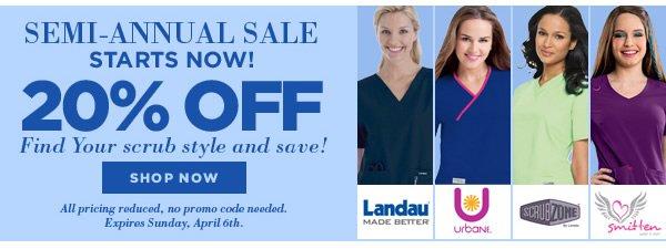 20% Off Landau, Urbane, ScrubZone, & Smitten - Shop Now