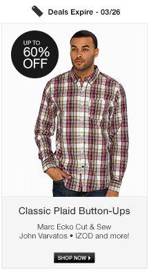 Classic Plaid Button-Ups