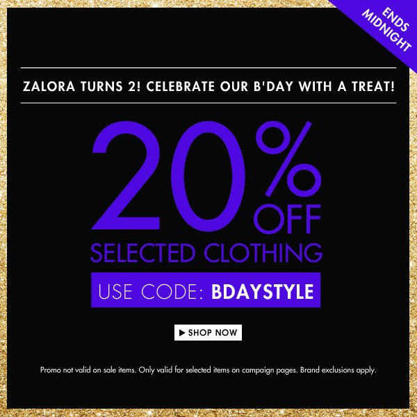 2Get 20% off selected clothing!