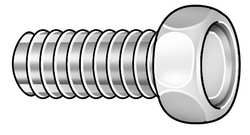 Mach Screw, Hex, 8-32 x 1 L, PK 100