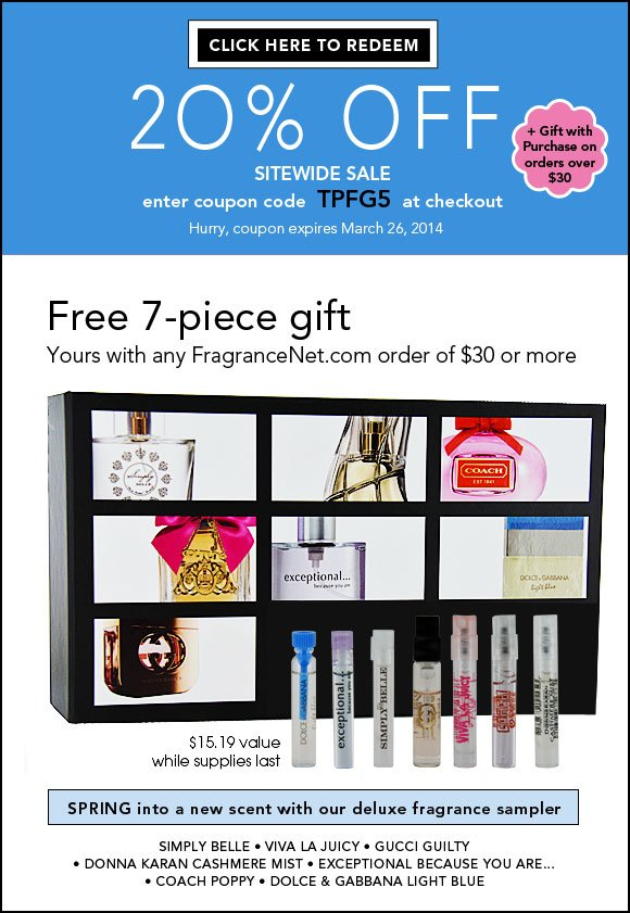 Today Only! FREE Designer Fragrance Sampler