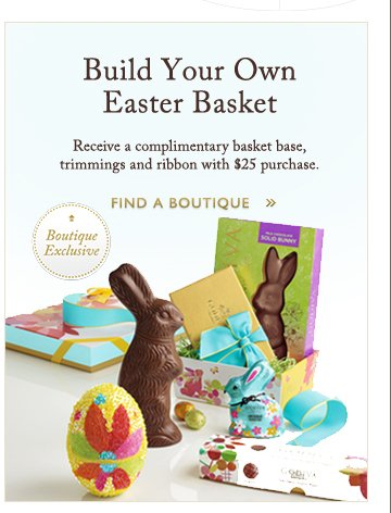 Build Your Own Easter Basket | FIND A BOUTIQUE