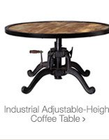 Industrial Adjustable-Height Coffee Table >