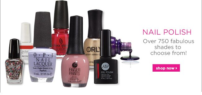 Over 750 fabulous shades to choose from