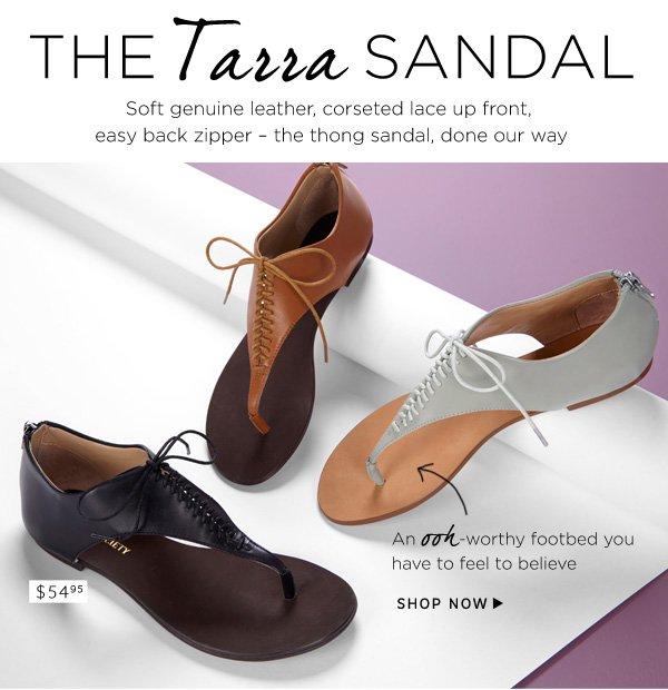 The Tarra Sandal. Shop Tarra