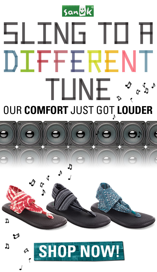 SLING TO A DIFFERENT TUNE. SHOP NOW.