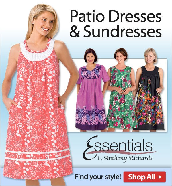 Patio Dresses & Sundresses from Essentials! - Shop Now >>