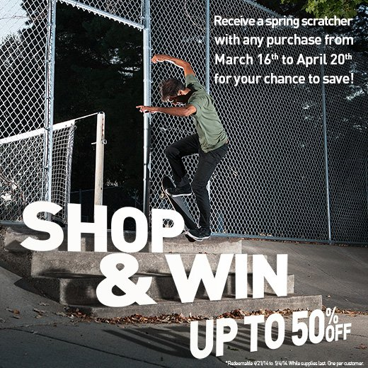 Shop & Win Up to 50% Off