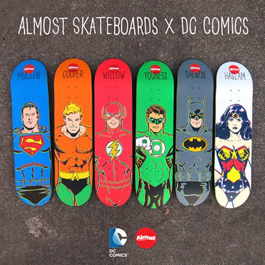 Almost Skateboards x DC Comics