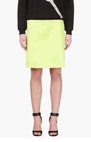 JONATHAN SAUNDERS Acid Green A-Line Skirt for women