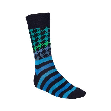 Houndstooth Stripe Sock // 2 Pairs