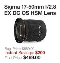 Sigma 17-50mm Lenses