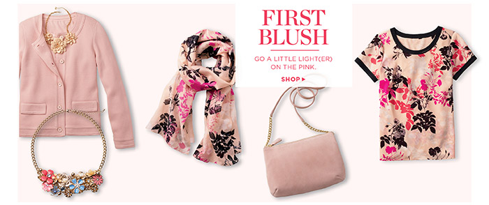 First Blush, go a little light(er) on the pink. Shop.