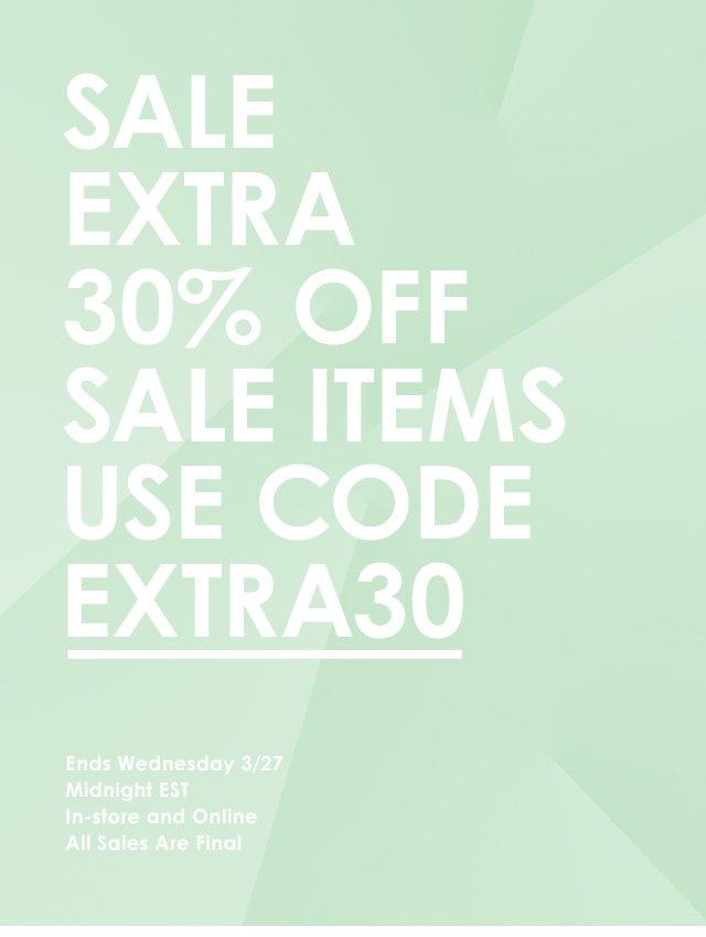 Sale—30% Off Sale Items