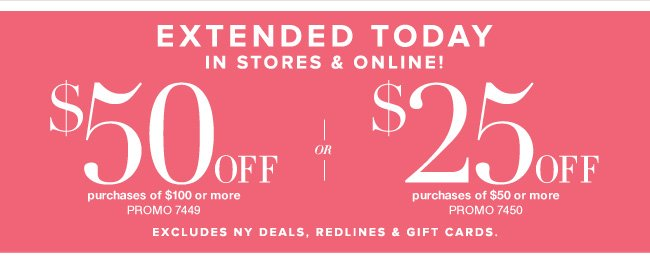 Extended Today, Use this Coupon In Stores & Online!