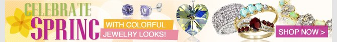 Celebrate Spring with colorful jewelry looks