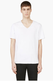 MAISON MARTIN MARGIELA White AIDS Awareness T-Shirt for men