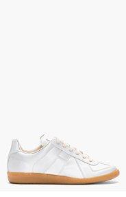 MAISON MARTIN MARGIELA Silver Glossy Vinyl Replica Sneakers for men