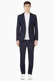 MAISON MARTIN MARGIELA Navy Summer Wool Suit for men