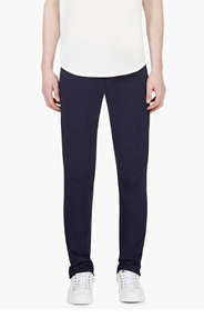 MAISON MARTIN MARGIELA Navy Quilted Knee Lounge Pants for men