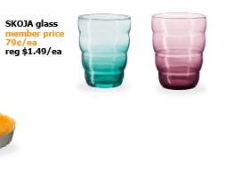 SKOJA glass | Member price 79¢/ea