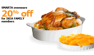 SMARTA ovenware | 20% off for IKEA FAMILY members