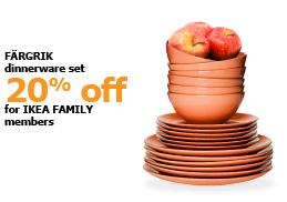 FÄRGRIK dinnerware set | 20% off for IKEA FAMILY members