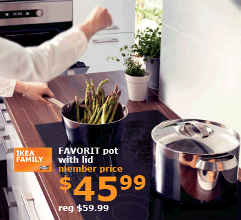 FAVORIT pot with lid | Member price $45.99