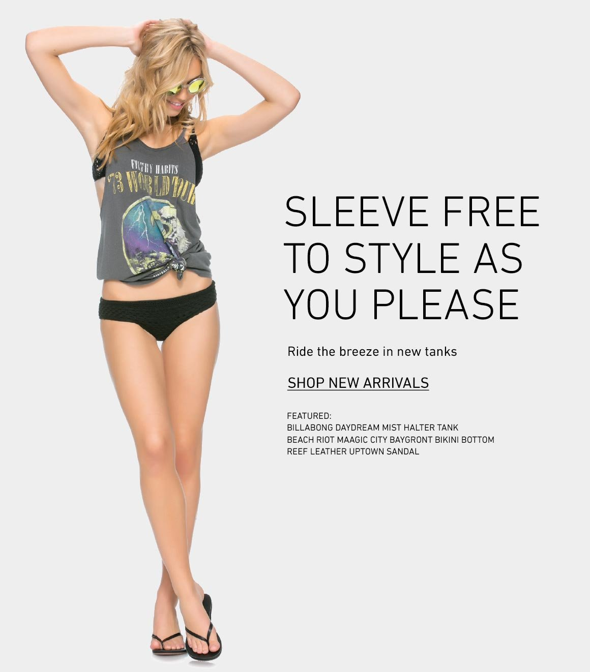 Sleeve Free Style: New Tanks