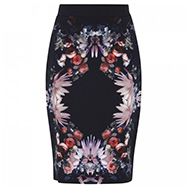 GIVENCHY - Floral print stretch crepe pencil skirt