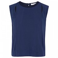 O'2ND - Double layered cut-out crepe top