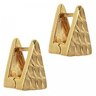 MFP-MARIAFRANCESCAPEPE - Textured gold plated earrings