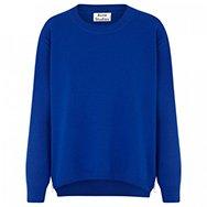 ACNE - Zip embellished knitted sweatshirt
