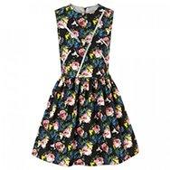 MSGM - Floral print cotton twill dress