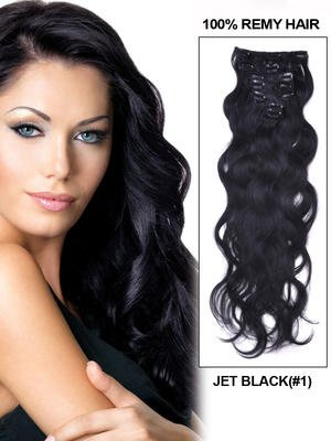 26' Body Wave Thailand Virgin Hair Extension Weft - Natural Black (#1B)
