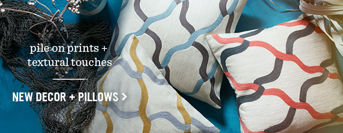New Decor + Pillows