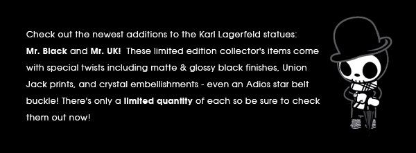 These are exclusive to the Karl Lagerfeld stores but we have access to a limited quantity, complete with Artist Print Certificates of Authenticity.