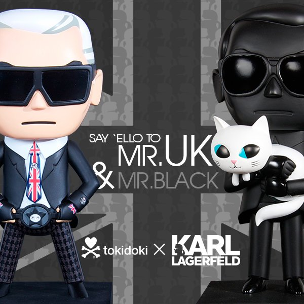 Check out the newest additions to the Karl Lagerfeld statues: Mr. Black and Mr. UK!