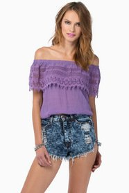 Carrie Crochet Top $39