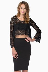 Virtuous Lace Top $25
