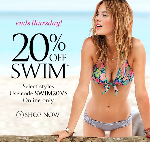 Ends Thursday! 20% Off Swim