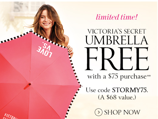 Victoria's Secret Umbrella Free with $75 Purchase