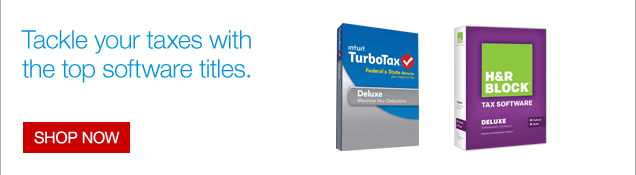 Tackle your taxes with the top software titles. Shop now