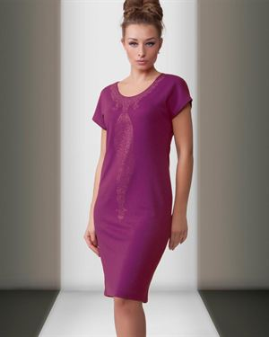 Magnolica Solid Color Straight Cut Dress Made In Europe