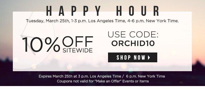 Happy Hour 10% Off