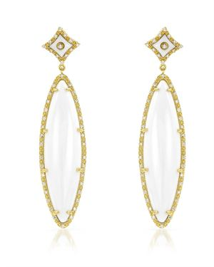 Yours By Loren Gold Plated Silver Earrings with 24.34 CTW Agates