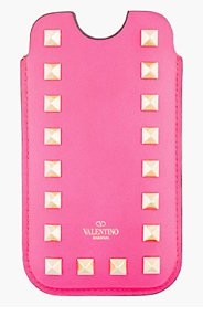 VALENTINO Pink Studded Iphone 5 Case for women