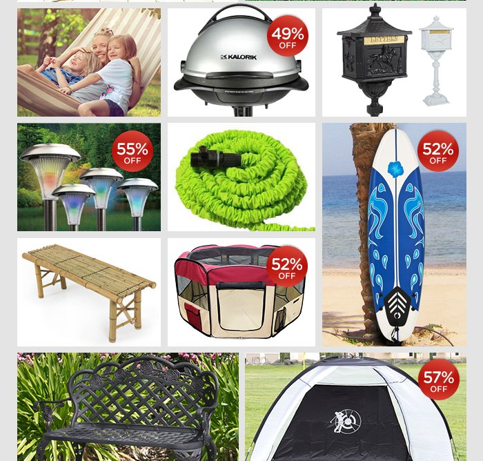 Get more from your backyard with great deals on outdoor decor. SHOP NOW >