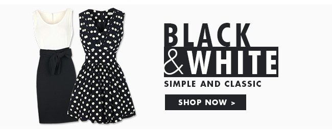 Black and White Simple And Classic Shop now